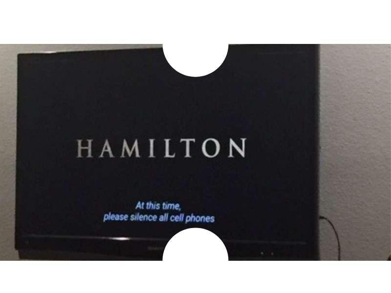 Hamilton movie splash screen